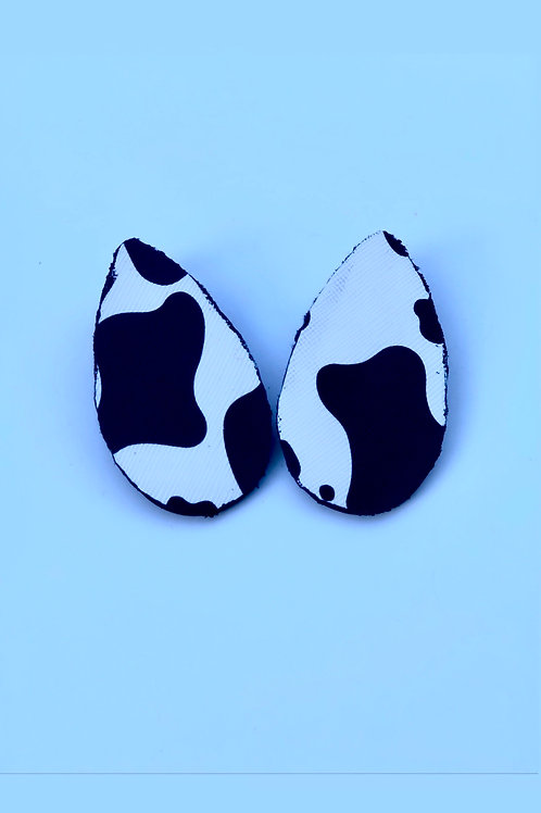 Cow Print Tear drop Studs