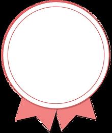 rosa Plakette