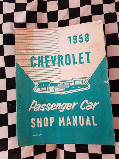 Original 1958 Chevrolet Full Factory Workshop Manual