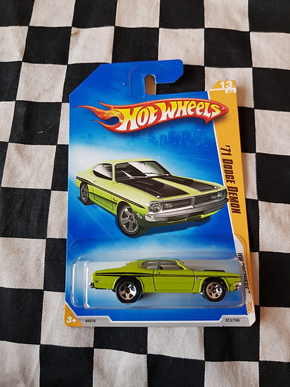 Hot Wheels 2009 First Edition 71 Dodge Demon Green