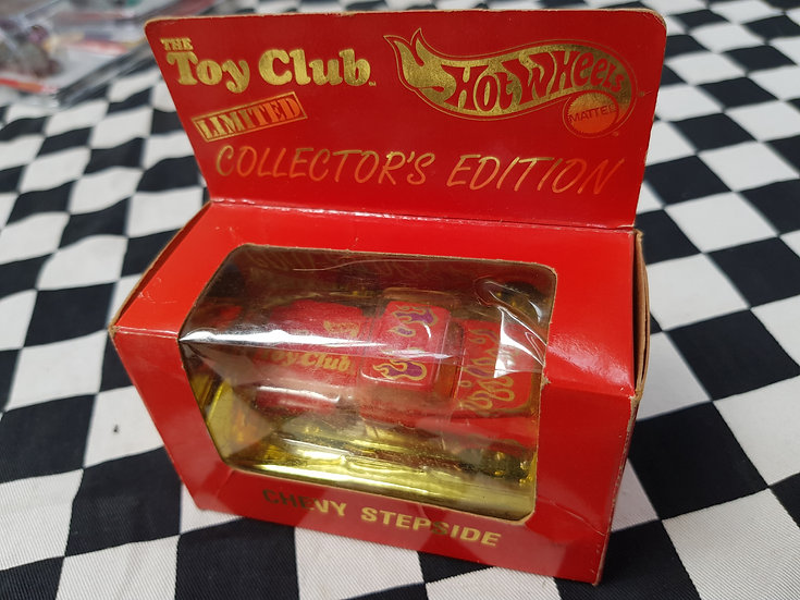 Hot Wheels The TOY CLUB Chevy Stepside Boxed Limited Collectors Edition