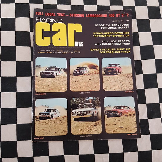 Racing Car News November 1968