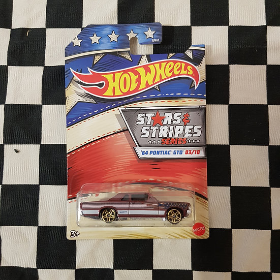 Hot Wheels 2020 Stars & Stripes 3/10 64 Pontiac GTO