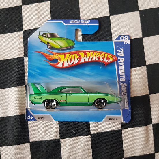 Hot Wheels 2010 Muscle Mania 70 Plymouth Superbird Green Short Card