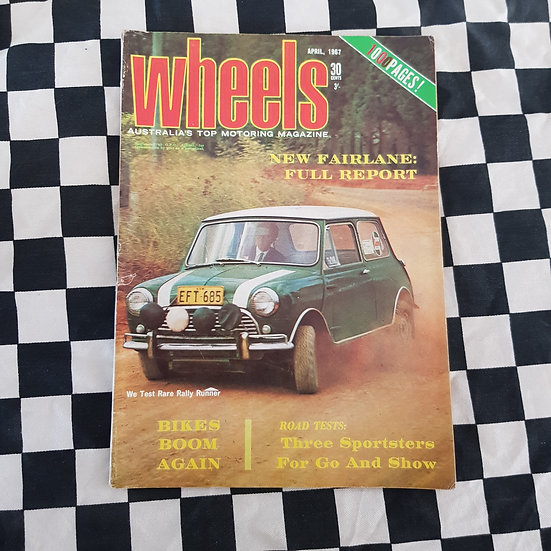 Wheels Magazine April 1967 Mini Cooper S  Fairlane