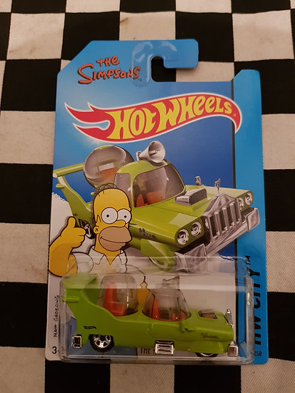 Hot Wheels 2013 HW City Tooned II Simpsons The Homer
