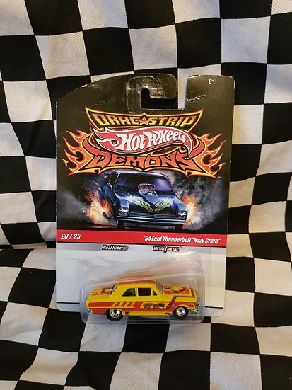 Hot Wheels Dragstrip Demons 64 Ford Thunderbolt Nazy Crate Fairlane