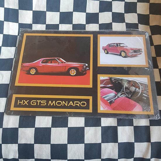 Tin Sign Repro 20x30 Holden LE Monaro