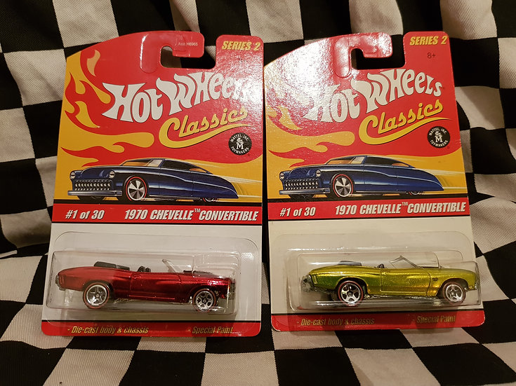 Hot Wheels Classics s2 1970 Chevelle Convertible REDLINE Lime or Red