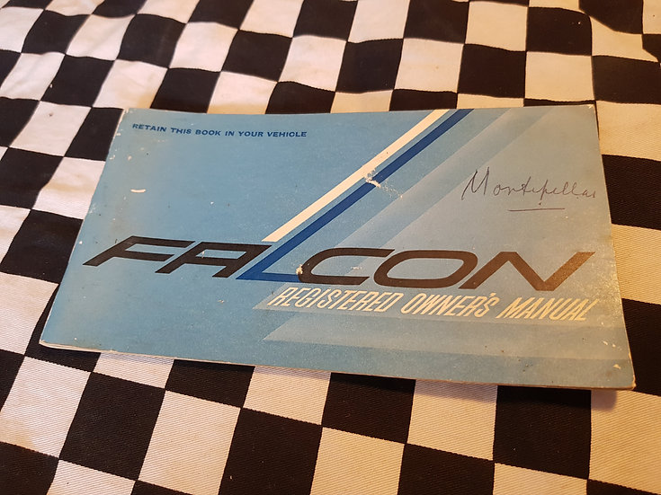 XR Falcon Owners Manual