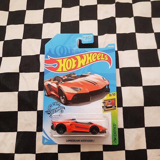 Hot Wheels 2019 Exotics Lamborghini Adventador J Orange Long Card