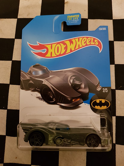 Hot Wheels 2018 Batman Batmobile Grey