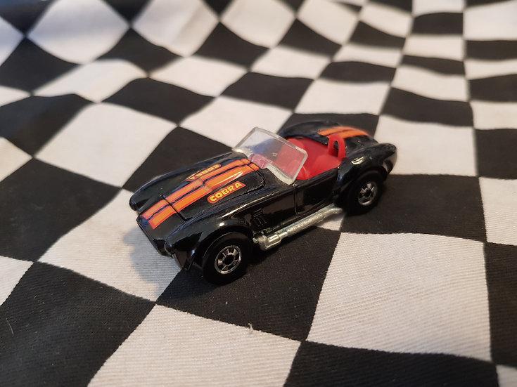 Vintage Hot Wheels Classic Cobra VHTF BLACK w Blackwalls 1982 Loose