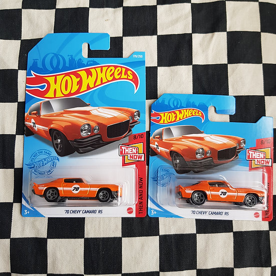 Hot Wheels 2021 Then & Now 70 Chevy Camaro RS  Long/short Card