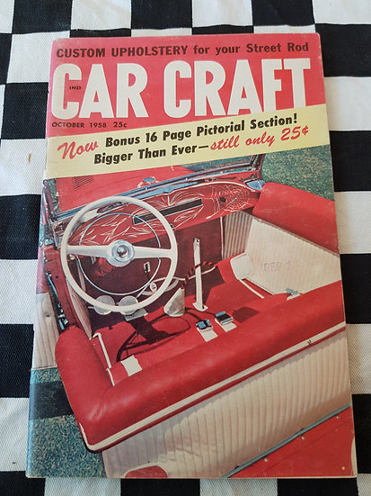 (LITTLE PAGES) CAR CRAFT  magazine october 1958