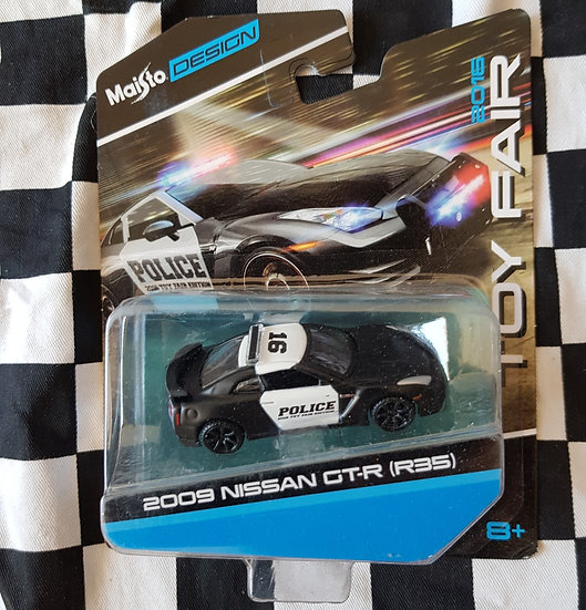 Maisto 2016 Toy Fair NISSAN SKYLINE GT-R R35 Police car