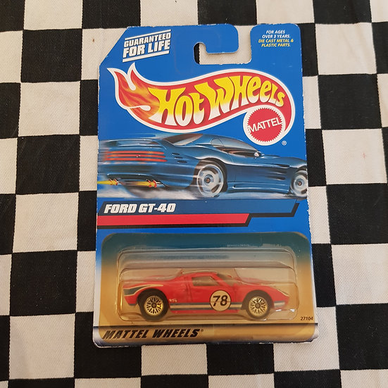 Hot Wheels 2000 Ford GT-40 Red