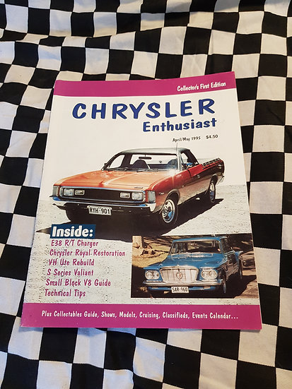 Chrysler Enthusiast Magazine #1 First Issue RARE!