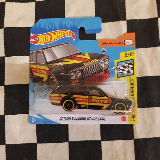 Hot Wheels 2020 Speed Graphics Momo Datsun Bluebird 510 Wagon Black Short Card