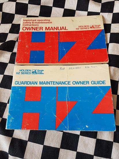 HZ HOLDEN Owners Manual / owner Guide Set of 2 Books Premier Gts Sandman Ute