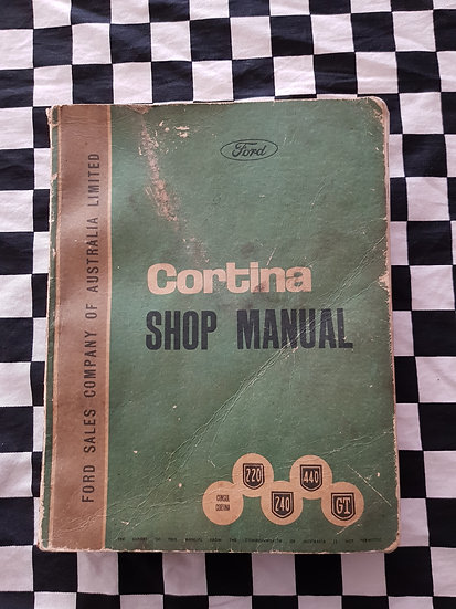 Genuine Ford Mark 1 Cortina Consul 220 240 440 GT Workshop Manual