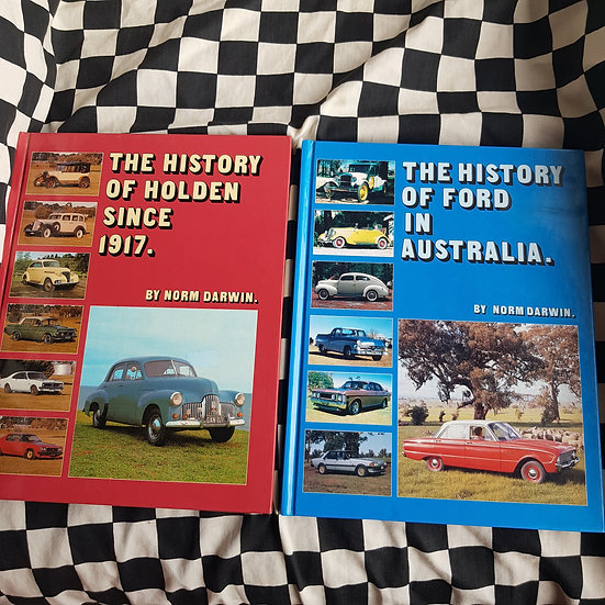 History of Holden/Ford By Norm Darwin Hardcovers Choice of 2