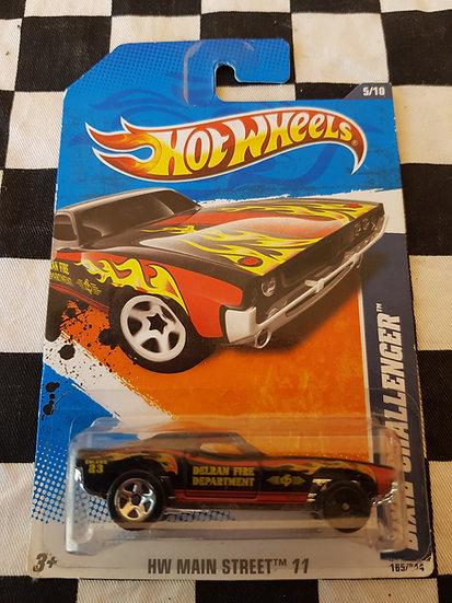 HOTWHEELS ERROR Dixie Challenger( black front wheel)