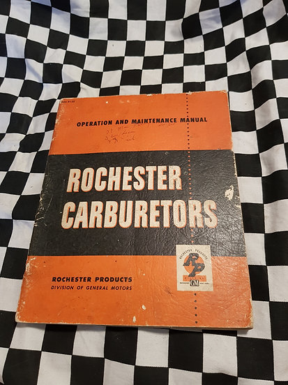 Rochester Carburetors Original Manual BC B BB AA