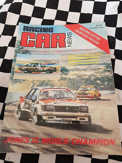 RACING CAR NEWS 11/80  Brock!