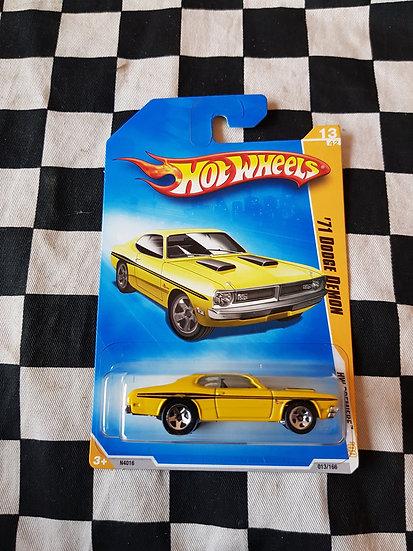 Hot Wheels 2009 First Edition 71 Dodge Demon yellow