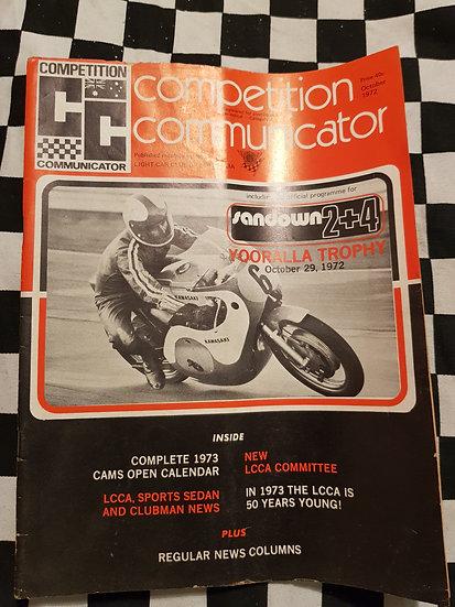 Competition Communicator Vol 1 #2 Oct 1972 race programme