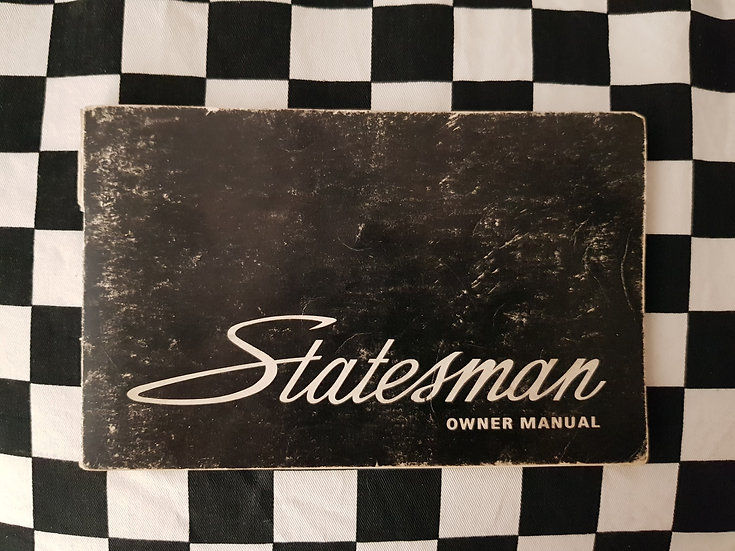 Holden HQ Statesman Owners Manual