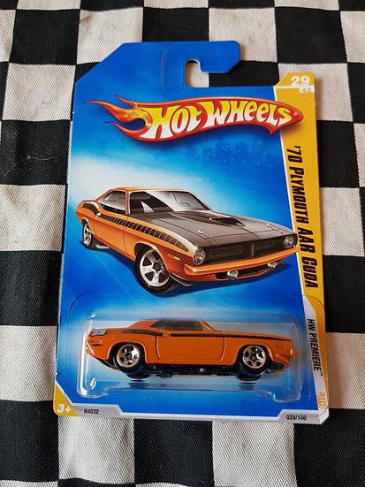 Hot Wheels 2009 First Edition Orange 70 Plymouth AAR Cuda
