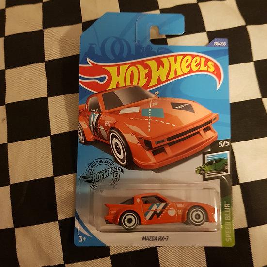 Hot Wheels 2020 Speed Blur Mazda Rx7 Orange