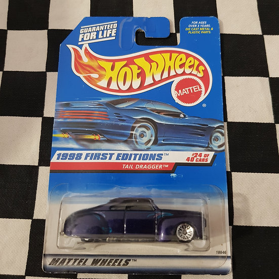 Hot Wheels 1998 1st Edition Tail Dragger Lead Sled Purple