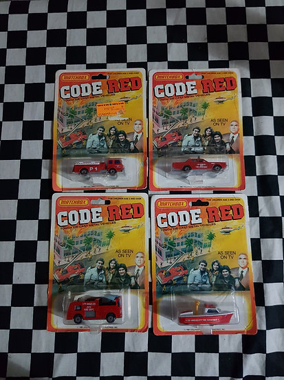 Matchbox Code Red Choice of Four. fire engine, Boat