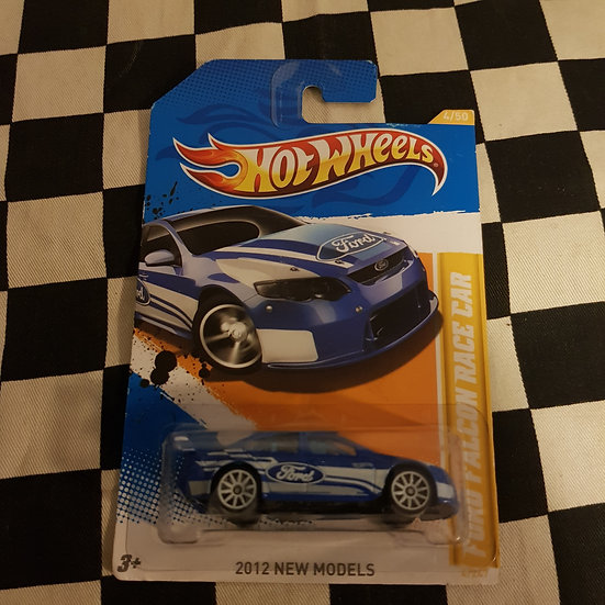 Hot Wheels 2012 First Editions Ford Falcon Race Car BLUE BA BF FG