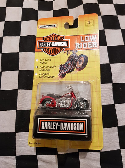 Matchbox 1992 Harley Davidson Low Rider Red