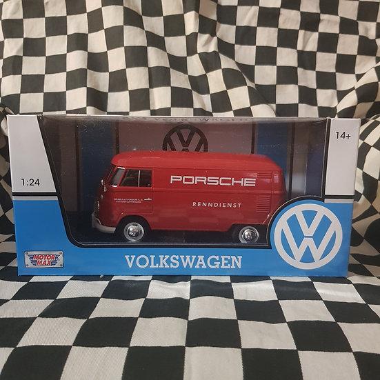 1:24 Scale Volkswagen Kombi Type 2 T1 Delivery Van Porsche Dealer Service