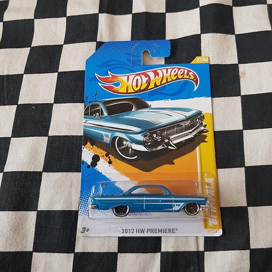 Hot Wheels 2012 First Edition 61 Chev Impala Blue