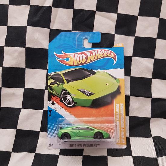 Hot Wheels 2011 First Edition Lamborghini Gallarardo LP 570-4 Superleggera Green