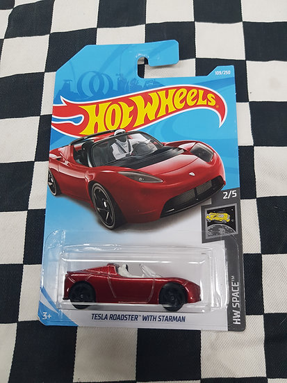 Hot Wheels 2019 Space Tesla Roadster with Starman
