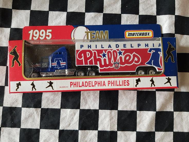 Matchbox 95 Team Philadelphia Phillies Transporter Truck Baseball