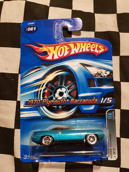 Hot Wheels 2006 Mopar Madness 1970 Plymouth Barracuda Blue