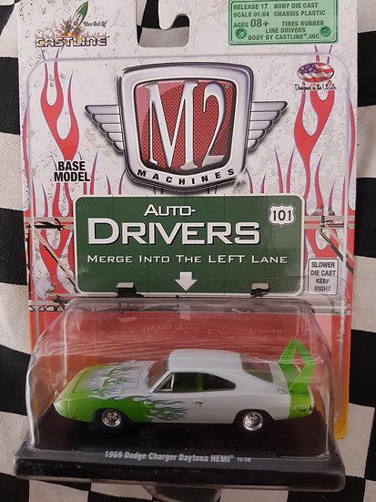 M2 Machines Auto Drivers 1969 Dodge Charger Daytona Hemi