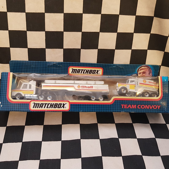 Matchbox 1987 Team Convoy Shell Tanker Truck Set