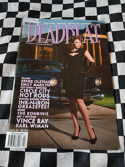 DEADBEAT Magazine #31 Hotrods Pinups Music Tattoos Lowbrow Art