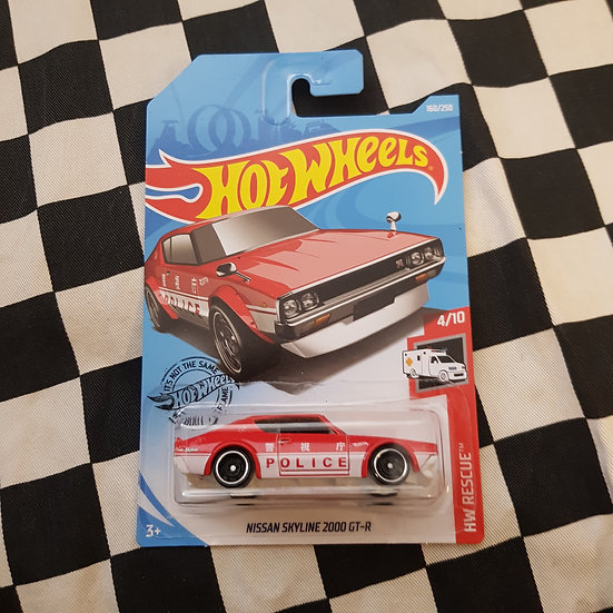 Hot Wheels 2019 Rescue Nissan Skyline 2000 GT-R Red Police