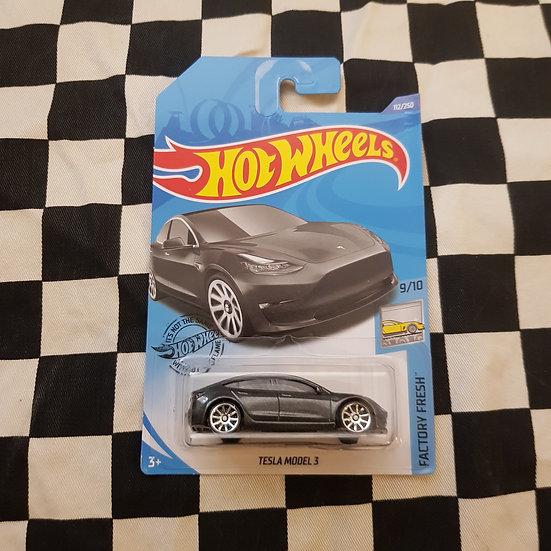 Hot Wheels 2020 Factory Fresh Tesla Model 3 Grey