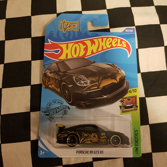 Hot Wheels 2020 Exotics Porsche 911 GT3 RS Black